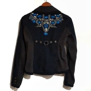 Free People Embroidered Stretch Jacket